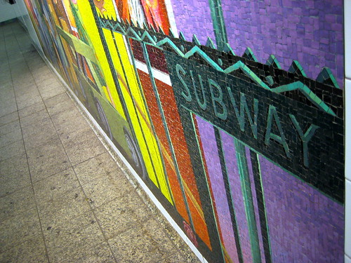 Mosaic at 42nd Street Subway Station Close up