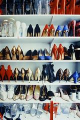 Footwear (Zhaoyi) Tags: shoes highheels nobody shelf indoors footwear neat variety organization shelves indulgence inarow spikeheels groupofobjects largegroupofobjects