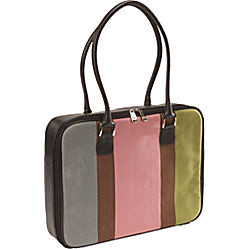 Mango Tango Canvas Stripe Bag in Pink