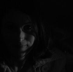 Marjorie  #6121 (Ogham | Erick.R (il est urgent d'attendre)) Tags: portrait people blackandwhite bw france girl face night portraits nikon women noir nightshot noiretblanc femme models bordeaux expressions yeux wife nikkor visage gironde nikond80 nikoniste