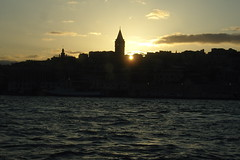 Galata's backlight (Mehmet Babalolu) Tags: light tower back istanbul bosphorus galata ters kulesi k