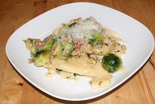 Pappardelle with Brussels Sprouts and Pancetta