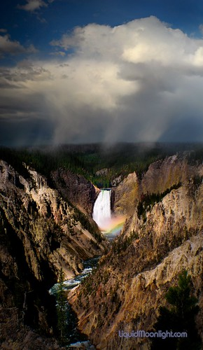 Storm over Yellowstone Falls