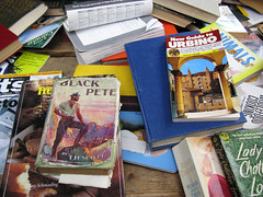 "I  read ""Black Pete"" when I was a boy (George D Thompson) Tags: uk england lancashire preston carbootsale bookstall prestonmarket"