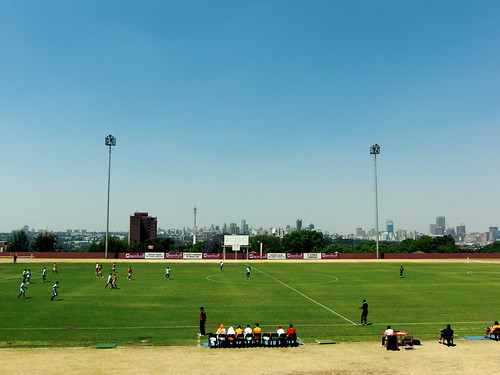 The UJ stadium view from the stands