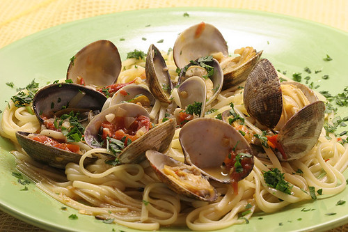 Linguine with Clams and Pernod