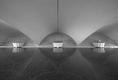 Echoing Halls of Water (Kc Jacoby Photography LLC) Tags: bridge vacation blackandwhite reflection water pittsburgh pentax pennsylvania k10d pentaxk10d kcjacoby novavitanewlife