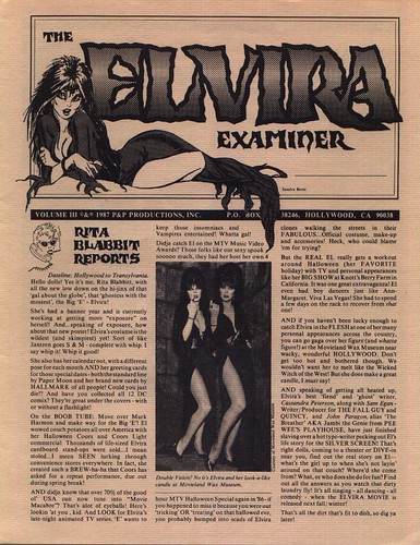 The Elvira Examiner volume III page 1