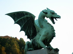 Ljubljana, Slovenia - Zmajski Most (Dragon Bridge)