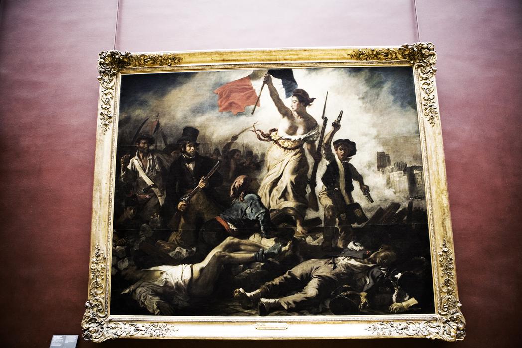La Liberty guidant le peuple chez Musée du Louvre (Paris, France)