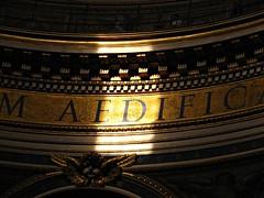 Il sole lettore (Il cantore) Tags: sun rome roma gold ray mosaic text mosaico latin latino sole sanpietro oro testo raggio 15challengeswinner canoniani