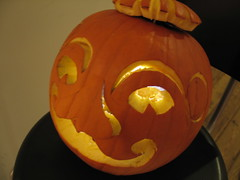 Pumpkin Man, Casket Arts Building, Minneapolis, Minnesota, October 2008, photo © 2008 by QuoinMonkey. All rights reserved.