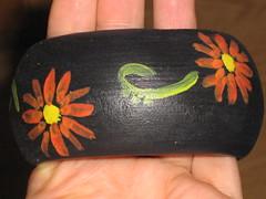 Ref.276 Pulseira com flor vemelha