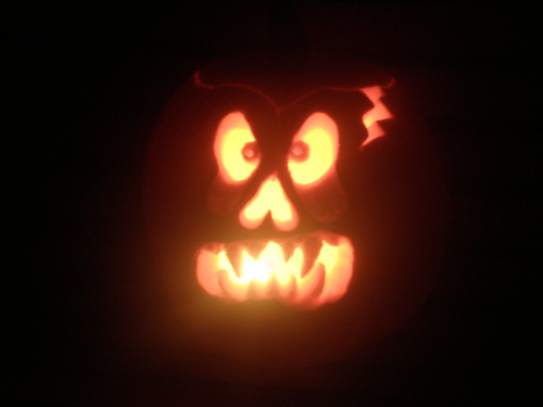 My Jack-o-Lanern lit up