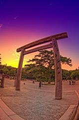 Ise Torii (/\ltus) Tags: japan pentax handheld freehand torii hdr iseshrine isejingu 5xp japanhdr k20d isetorii