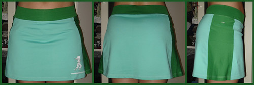 running skirt green