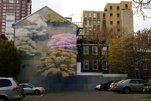 Pixelated mural