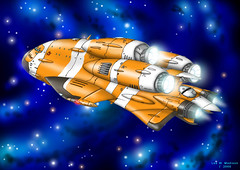 AvroGalactic 994  Cosmoloader (ArtraccoonEmpire) Tags: anime space scifi spacecraft starship starships