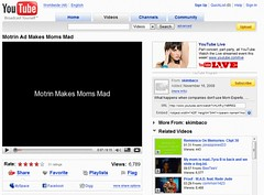 Over 6000 views on Motrin Mom Video