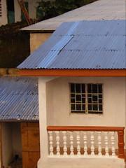Rooflines at Sundown 1 (Karen Hlynsky) Tags: sierraleone westafrica freetown colefarm