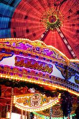 Horses and Tigers and UFOs Oh My (HeavyWeightGeek) Tags: winter horses wheel wonder edinburgh circus tiger carousel fair ferris ufo wonderland