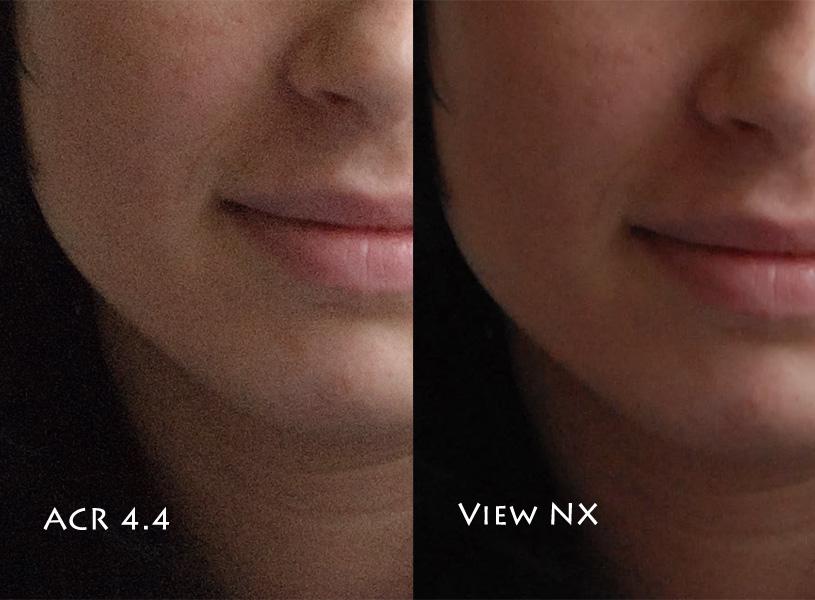 Adobe Camera Raw 4.4 vs. Nikon ViewNX