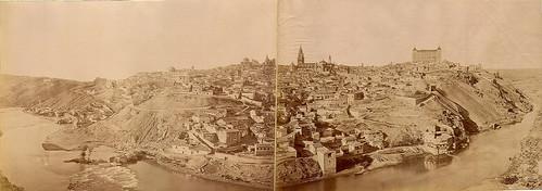 Panorámica de Toledo. Foto Jean Laurent, 1872