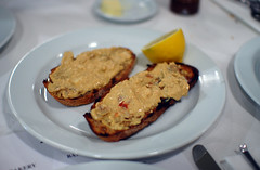Brown Crab Meat on Toast