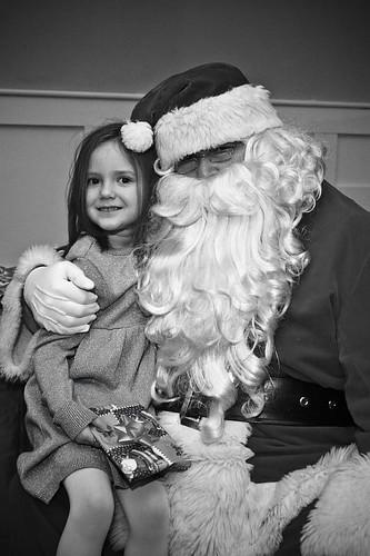 Kayla and Santa 2008