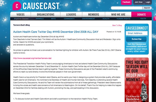 Autism & Health Care Twitter Day, December 23, 2008