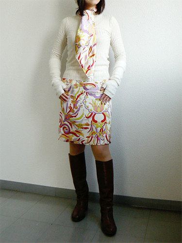 a simple silk skirt