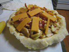 Apple Bacon Cheddar Pie