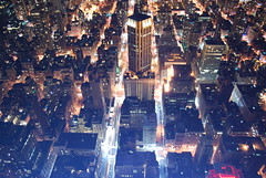 grid (hannah.mishin) Tags: city nyc newyorkcity night buildings nightshot empirestatebuilding nycskyline senic newyorkcitylights