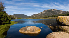 Tidal River (Timmy Toucan) Tags: blue sky panorama mountain water river nationalpark australia olympus victoria prom e3 tidal zuiko wilsons oberon wilsonsprom mtoberon tidalriver wilsonspromontory perfectpanoramas parksvictoria 1260mm