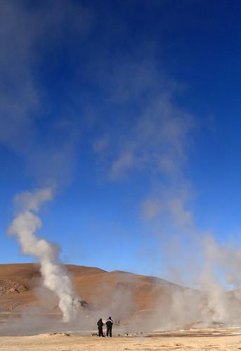 El Tatio geysers, Chile por Phil Marion.