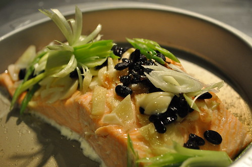 steamed salmon with black bean sauce recipe