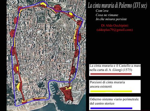 Ricostruzione Grafica - La cinta muraria di Palermo (XVI sec)