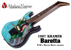 1987 KRAMER Baretta vintage P40 Dennis Kline graphic guitar EVH (eric_ernest) Tags: original musician music art classic beautiful museum vintage photo cool pointy photos sale 1987 1988 band guitars columbia musical 1984 instrument series 1989 eddievanhalen 1986 halen 1985 rare guitarist recording hardrockcafe airbrush guitarplayer pickups vibe paf patent humbucker guitarcollection evh airbrushed guitarcenter guitarsolo madeintheus baretta madeintheusa vintageguitar guitarshow edwardvanhalen garphic vintageguitars guitarshows guitarcollections beautifulguitar rareguitar guitarphotos rareguitars kramerkonvention guitarcollecting vintagekramerguitars pafpickups abalonevintage vintagekramer denniskline httpwwwabalonevintagecom