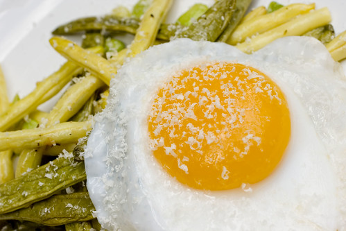 Green Market Beans with Free Range Duck Egg