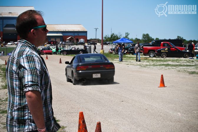 Russell Walker, Texas Drifter looks onto the track