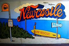 Beach Scene Mural Painted in Shortland Esplanade Underpass From Newcastle Beach, NSW (Black Diamond Images) Tags: sign newcastle australia tunnel nsw pedestriantunnel newcastlebeach pedestrianunderpass tunnelmural hunterregion beachscenemural shortlandpark shortlandesplanade newcastletourism underpassaviary shortlandesplanadeunderpass trevordickinson trevordickinson2011