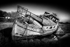 Seen Happier Times (BarneyF) Tags: boat hdr wirral oldboat merseyside heswall 5exp superaplus aplusphoto superbmasterpiece theperfectphotographer