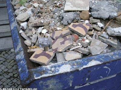 mosaico destruído