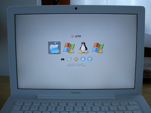 Operating system icons displayed on a computer screen.