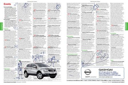 Nissan's doodle ad (as seen in TimeOut, rather than Metro)