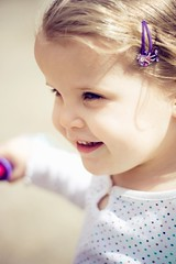 (narelle*) Tags: girl kids children kid toddler child play young curly blond cheeks preschool greta