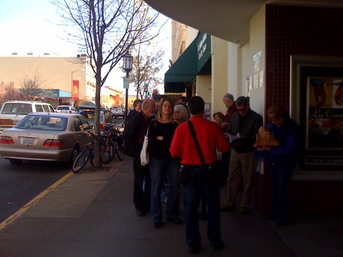 Line for The Cake Eaters at the Ashland Film Festival