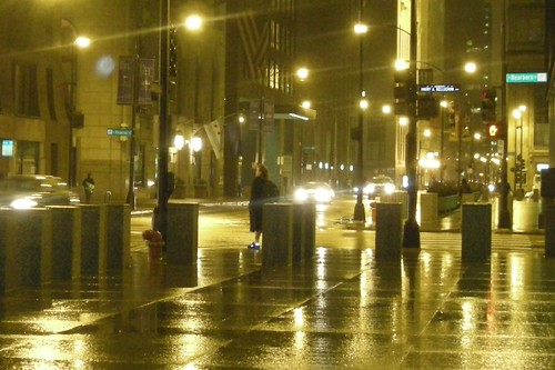Chicago Rainy Night In April