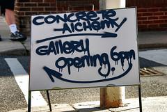 Alchemy 101 (damonabnormal) Tags: streetart colors sign graffiti mural colours artgallery tags urbanart signage galleryopening spraypaint graff paintup philadelphiastreetart philadelphiagraffiti concretealchemy philadelphiaurbanart