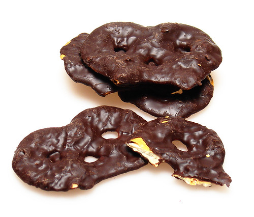 Chocolate Covered Pretzel Crisps